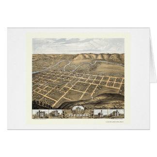 Decorah, Iowa Panoramic Map - 1870 Card