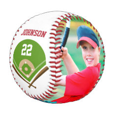 Decorate The Baseball With Photo Name And Number at Zazzle