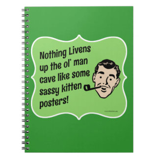 Decorate The Man Cave Snarky Guy Spiral Note Books