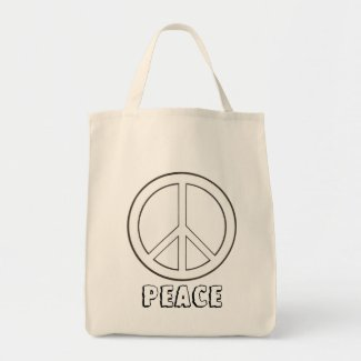 Decorate Your Own Peace Sign, Tote Bags
