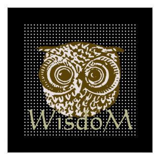 decorate your walls ~ owl wisdom poster