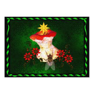 Decorated Apple Core 5x7 Paper Invitation Card