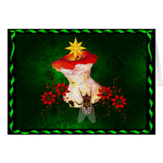 Decorated Apple Core Card