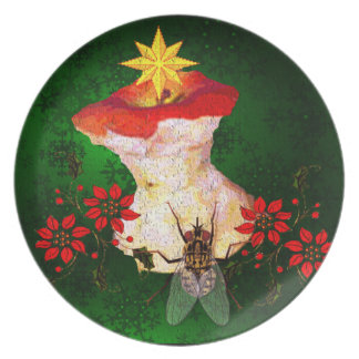 Decorated Apple Core Dinner Plate
