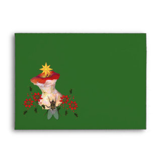 Decorated Apple Core Envelope