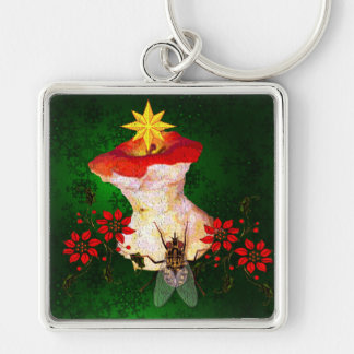 Decorated Apple Core Keychain