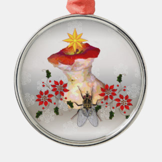 Decorated Apple Core Christmas Ornament