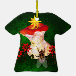 Decorated Apple Core Double-Sided T-Shirt Ceramic Christmas Ornament