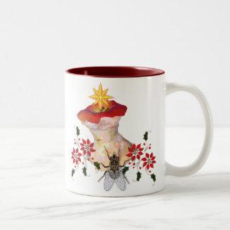 Decorated Apple Core Two-Tone Coffee Mug
