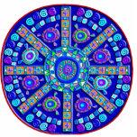 Decorated Blue Mandala Key Chain Photo Cutouts