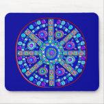 Decorated Blue Mandala Mouse Pad
