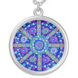 Decorated Blue Mandala Pendants