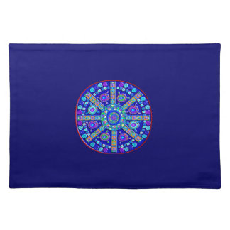 Decorated Blue Mandala Placemat