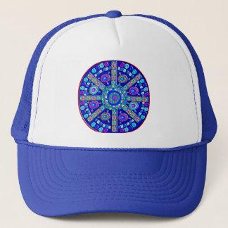 Decorated Blue Mandala Trucker Hat