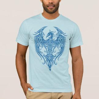 Decorated Blue Tribal Phoenix T-Shirt
