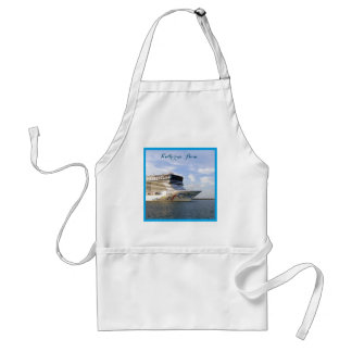Decorated Bow Personalized Adult Apron