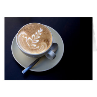 Decorated Cappuccino Greeting Card