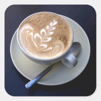 Decorated Cappuccino Square Sticker