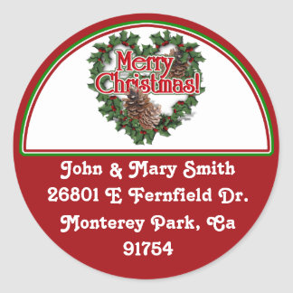 Decorated Christmas Address Label