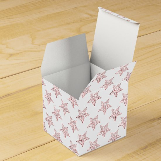Decorated Christmas Gift Box, Holiday wrapping Favor Box