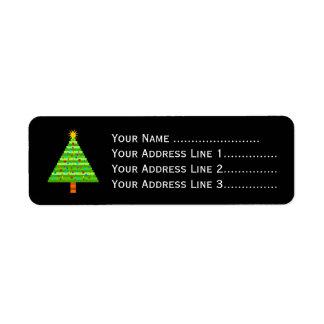Decorated Christmas Tree + Address Label