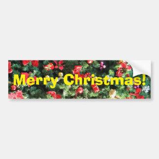 Decorated Christmas Tree Bumper Sticker