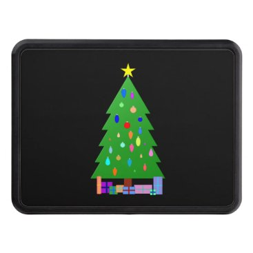Christmas Themed Decorated Christmas Tree & Christmas Presents Tow Hitch Cover