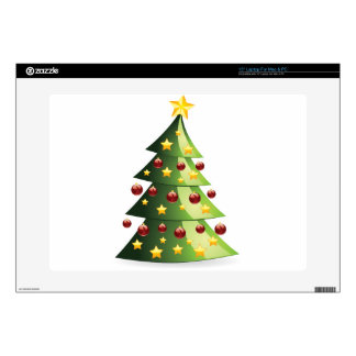 Decorated Christmas tree Decal For Laptop