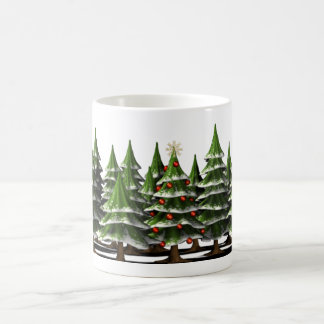 Decorated Christmas Tree in a peaceful Forest Coffee Mug