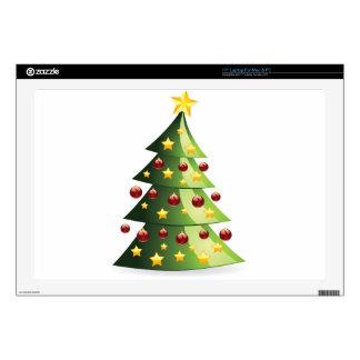 Decorated Christmas tree Laptop Skin