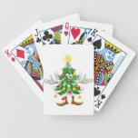 Decorated Christmas Tree man Card Decks