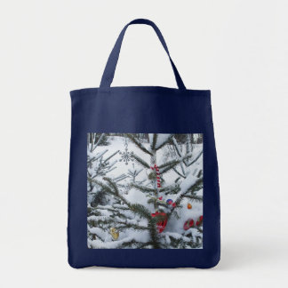 Decorated Christmas Tree Outside Tote Bag