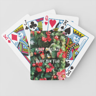 Decorated Christmas Tree Bicycle Playing Cards