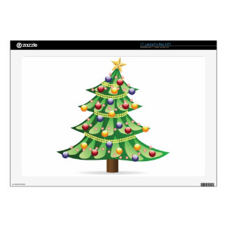 """Decorated Christmas tree Skins For 17"""" Laptops"""