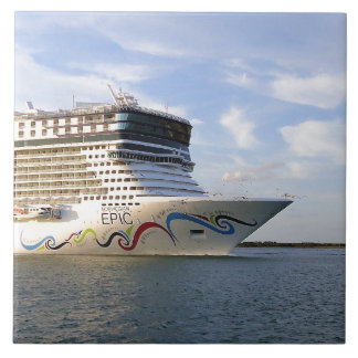 Decorated Cruise Ship Bow Ceramic Tile