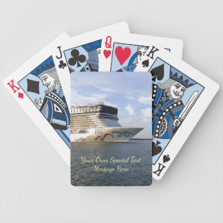 Decorated Cruise Ship Bow Custom Bicycle Playing Cards