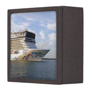 Decorated Cruise Ship Bow Jewelry Box
