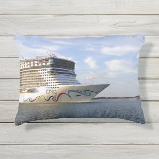 Decorated Cruise Ship Bow Outdoor Pillow