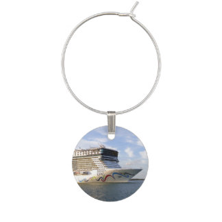 Decorated Cruise Ship Bow Wine Charm