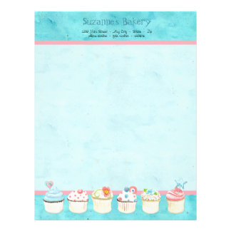 Decorated Cupcakes Custom Cake Business Stationery