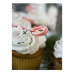 Decorated cupcakes postcard