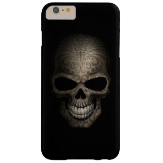 Decorated Dark Skull Barely There iPhone 6 Plus Case
