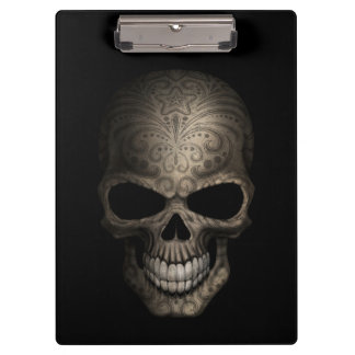 Decorated Dark Skull Clipboard