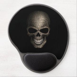 Decorated Dark Skull Gel Mouse Mats