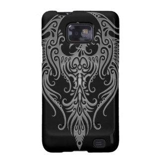Decorated Dark Tribal Phoenix Galaxy S2 Covers