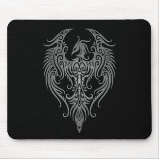 Decorated Dark Tribal Phoenix Mouse Pad