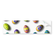 Decorated Easter Eggs Bumper Sticker