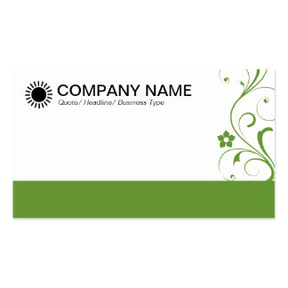 Decorated Footed - Avocado Green Business Card