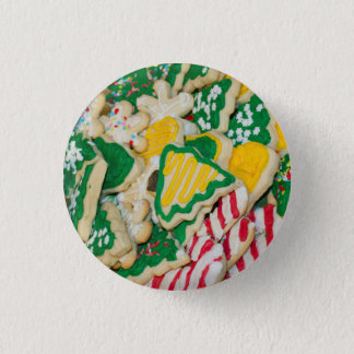 Decorated Frosted Homemade Christmas Sugar Cookies Button