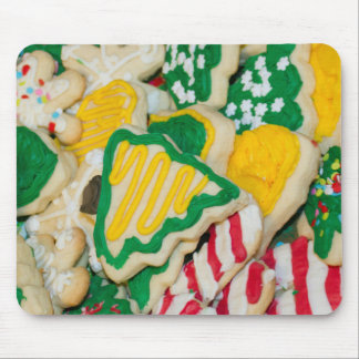 Decorated Frosted Homemade Christmas Sugar Cookies Mouse Pad